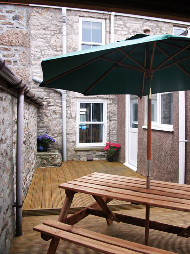 Patio, Camomile Cottage, Self-Catering, St Just