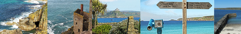 Land's End, Botallack, St Michael's Mount and Sennen